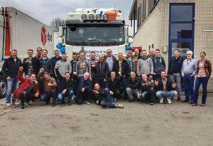 Gehele NAP transportbedrijf teamfoto